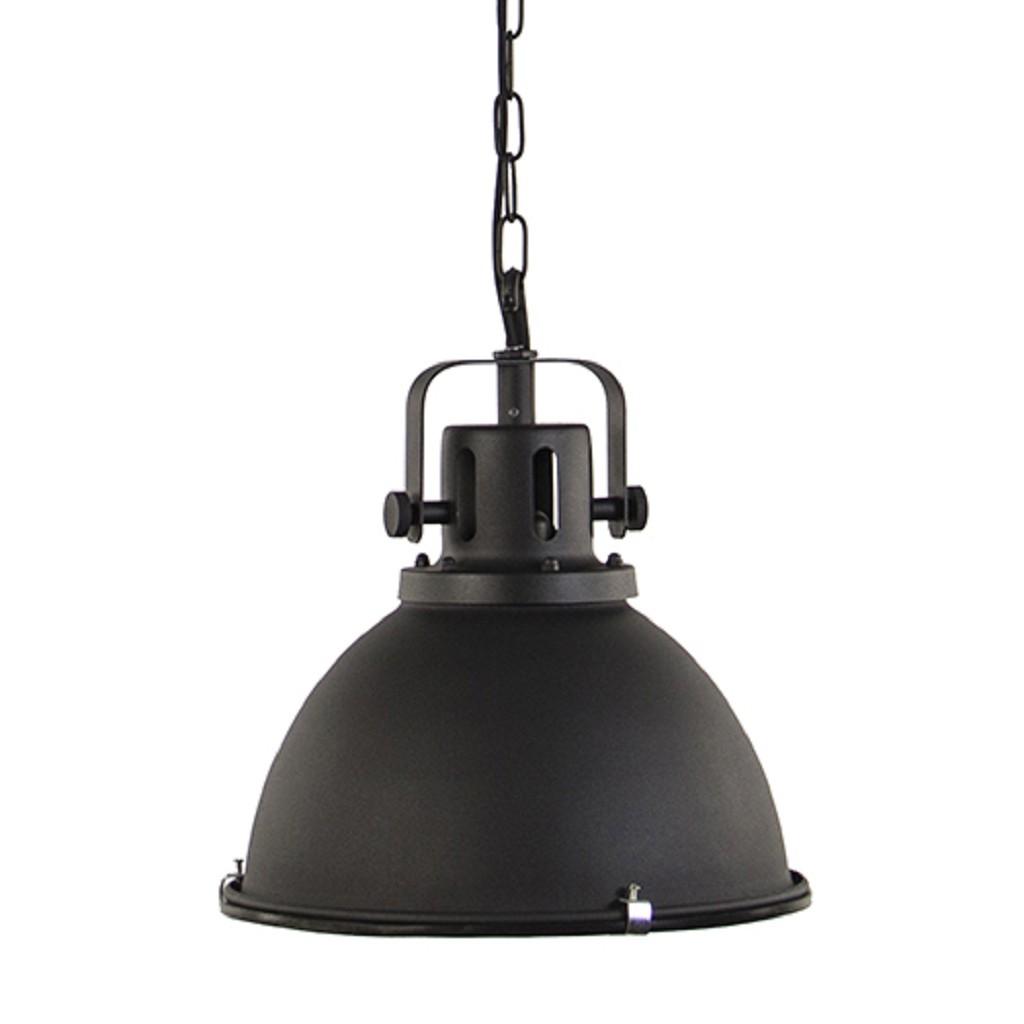 Zwarte Industriele Lamp.Hanglamp Zwart Industrieel 40cm Straluma