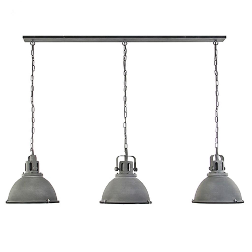 Grote industriële hanglamp betonlook