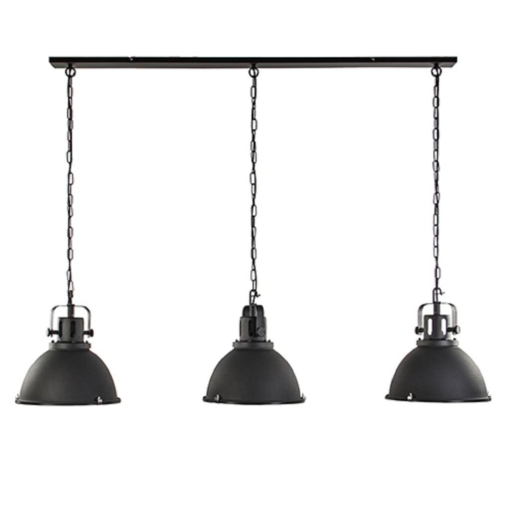 Grote eettafelhanglamp industrie zwart