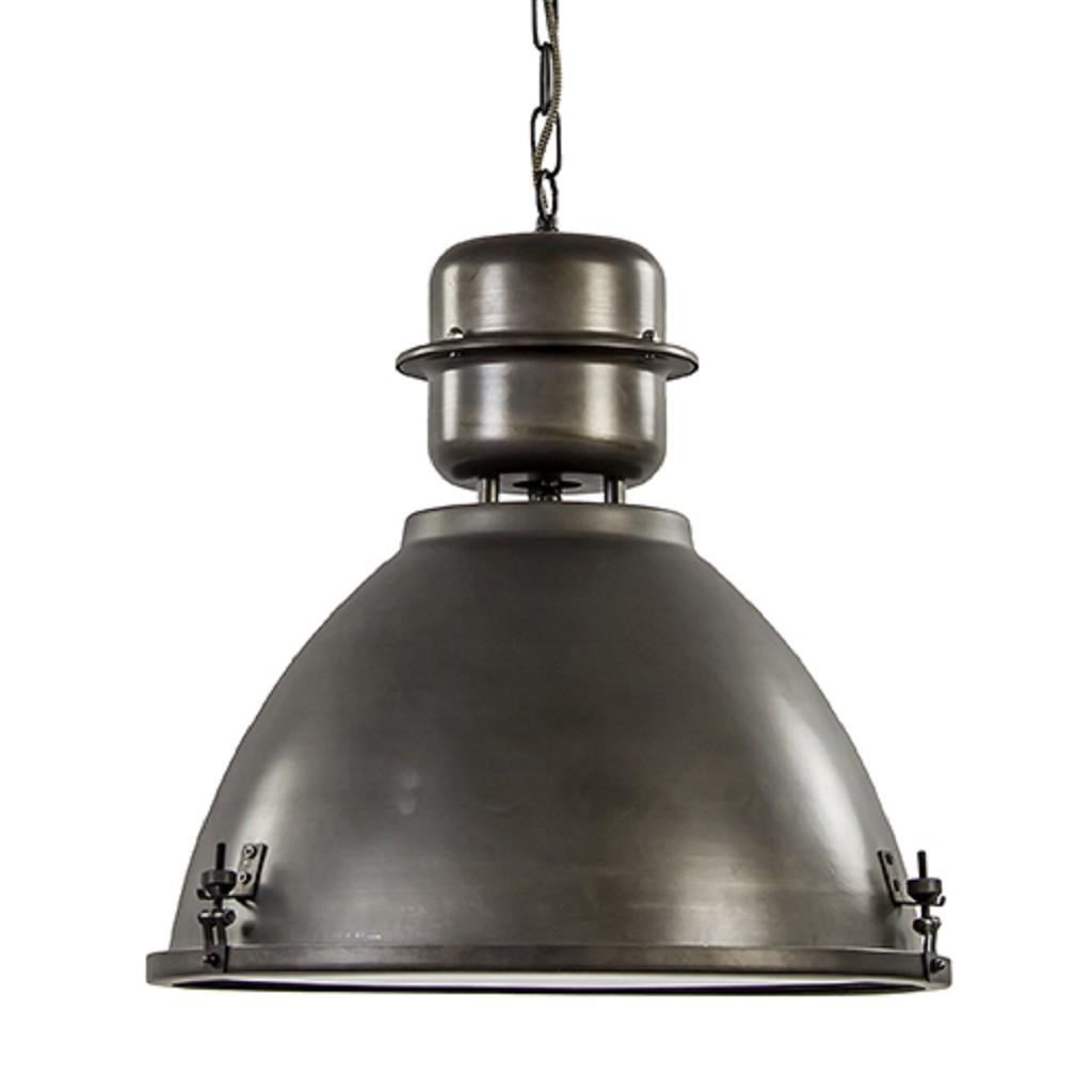 Industriële hanglamp Kiki antraciet met glas
