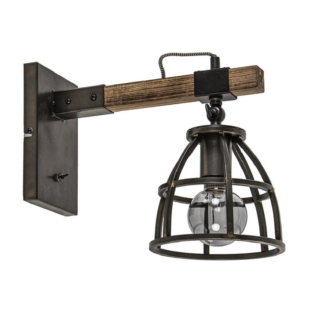Wandlamp Matrix met metalen korf excl. snoer