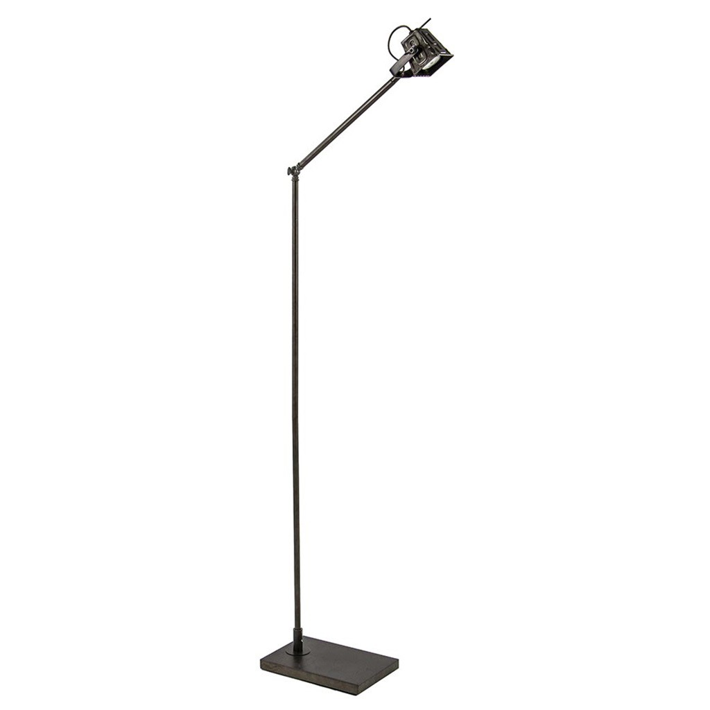 Industriele vloer/leeslamp black steel