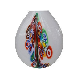 *Decoratieve Murano Vaaslamp glas wit
