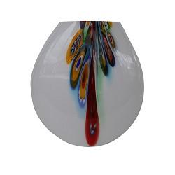 *Murano glas tafellamp wit met kleuren