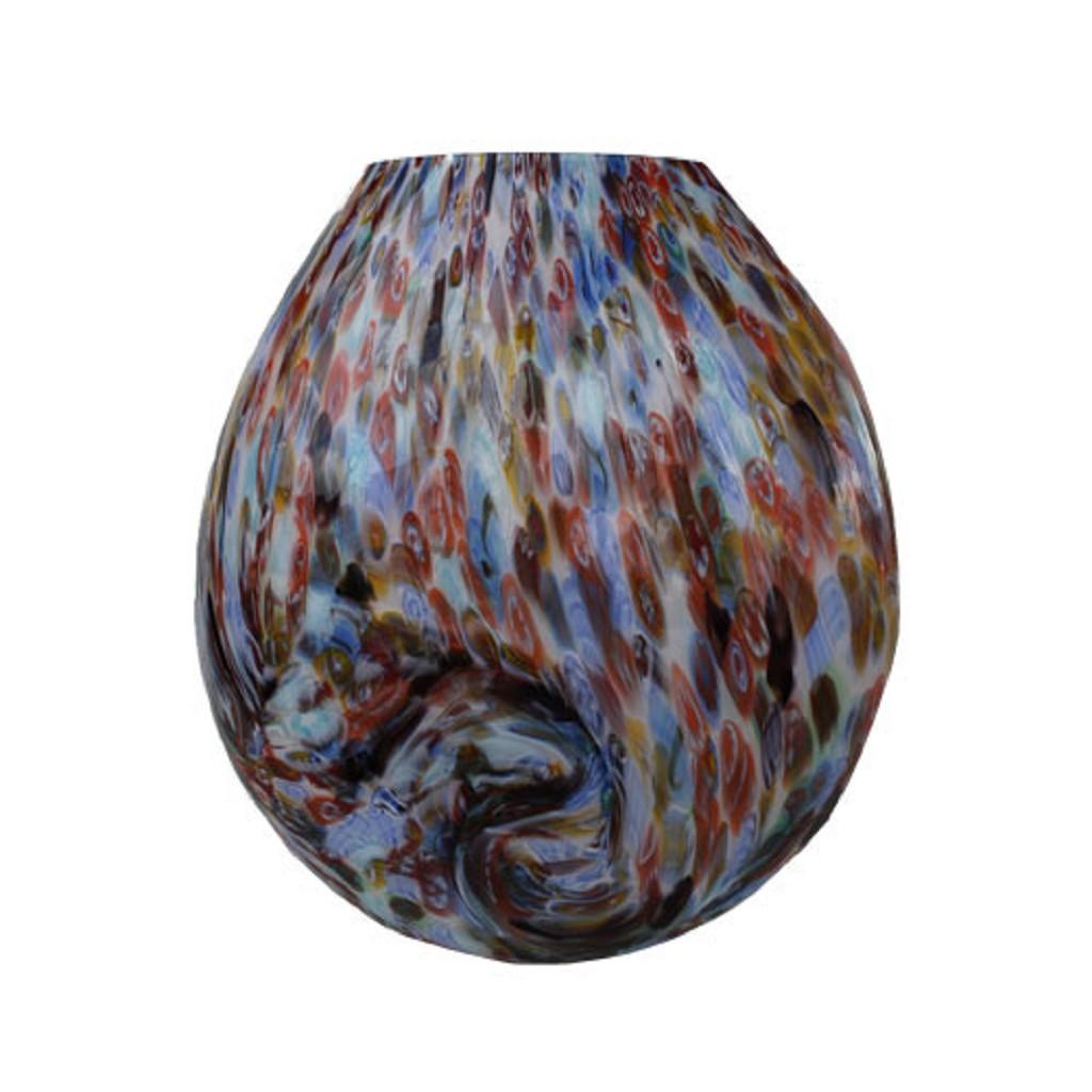 Glazen Rond Object.Prachtige Vaaslamp Murano Glas Tafell Www Straluma Nl