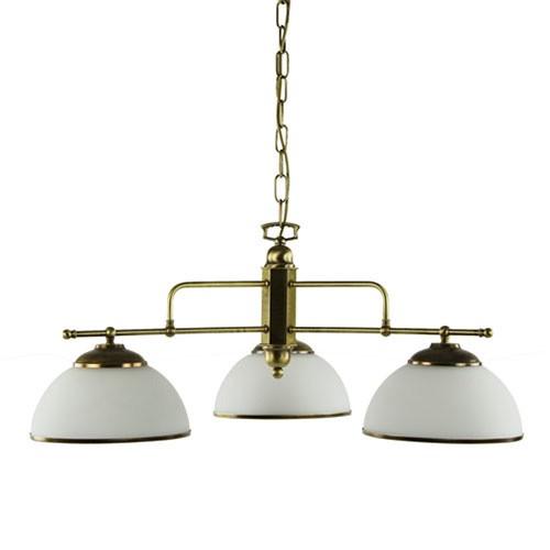 Klassieke hanglamp brons eettafel rond straluma for Klassieke hanglamp