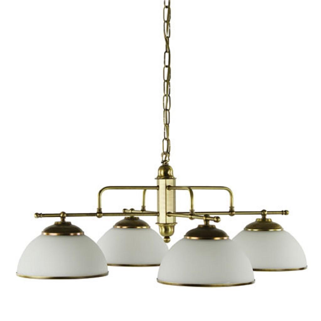 Klassieke hanglamp brons eettafel rond