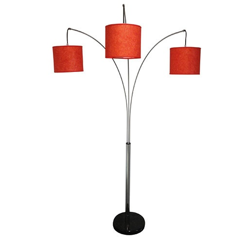 Speelse booglamp lampenkap kleur rood