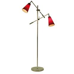 Leeslamp 2-lichts met sfeer- rood