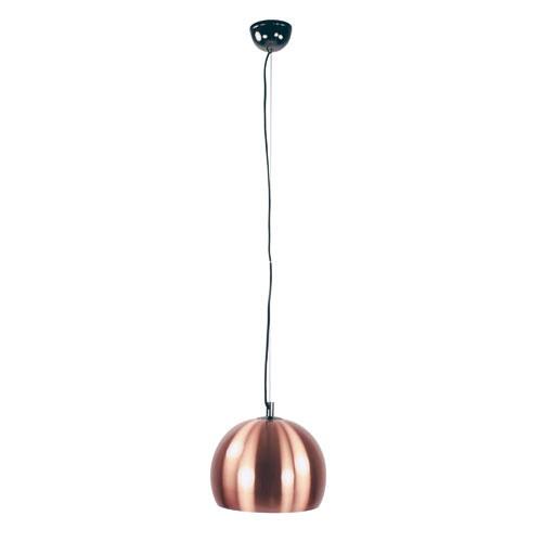 hanglamp bol zwart chroom met koper straluma