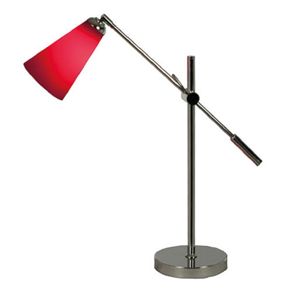 Speelse tafellamp rood chroom