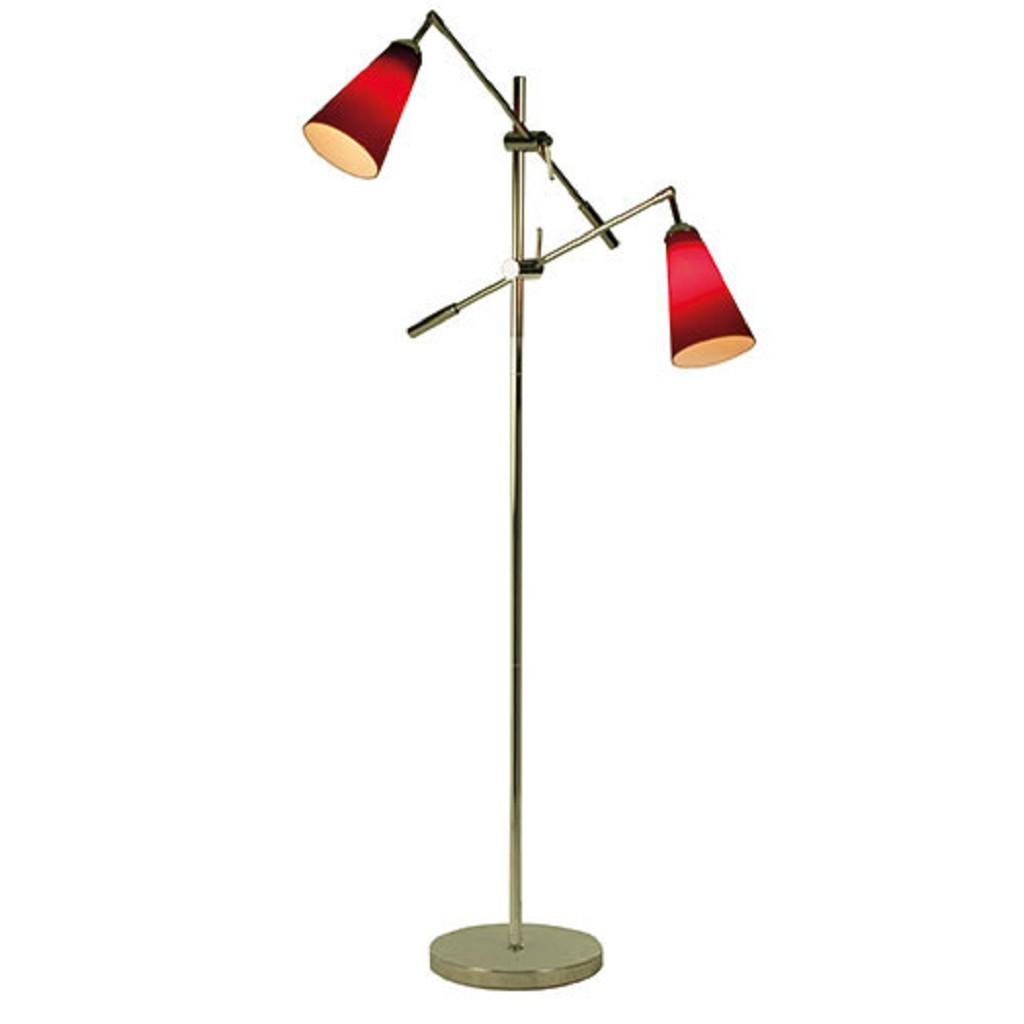 Leeslamp 2-lichts met sfeer rood