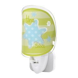 *Kinder nachtlampje led Sea groen blauw