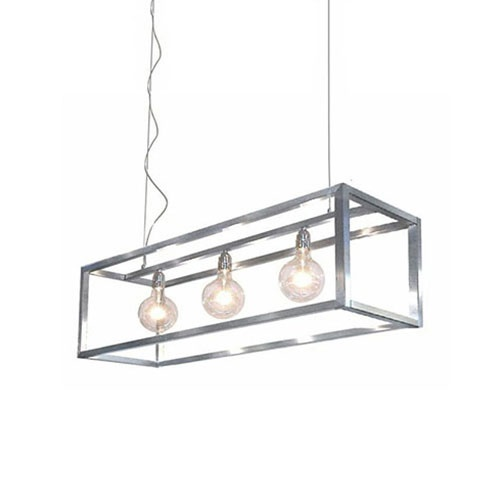 Hanglamp opengewerkt frame rvs