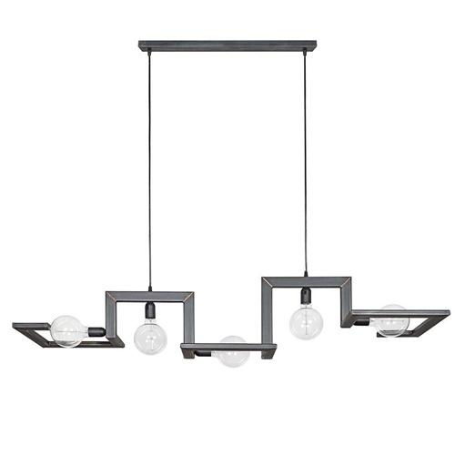 Design hanglamp staal met koperen lasnaden