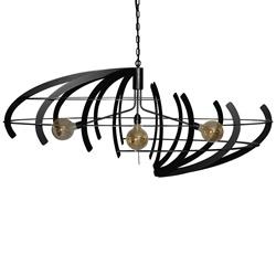 Hanglamp Terra ovaal zwart