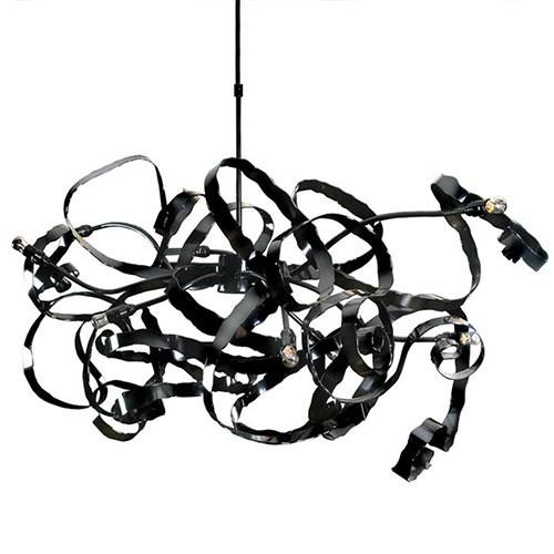 **Hanglamp design zwart eettafel