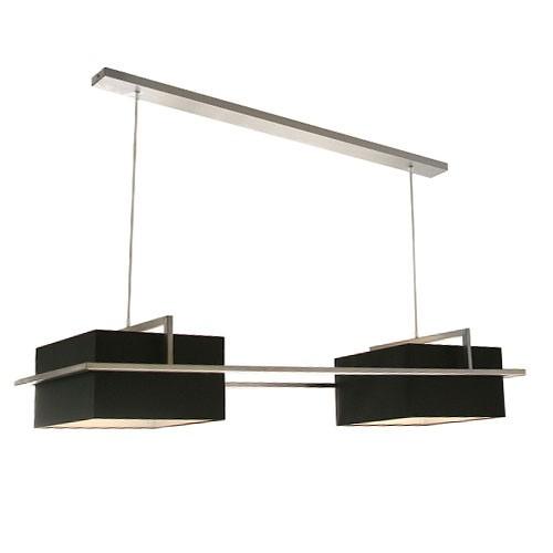 **Hanglamp stoer lampenkap zwart rvs