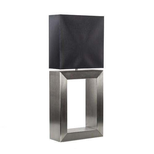*Tafellamp strak zwart design