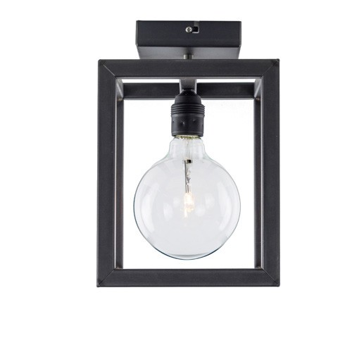 Plafondlamp Rimini frame zwartstaal