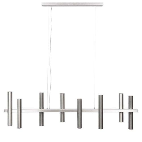 Moderne design hanglamp cilinders 10-lichts nikkel