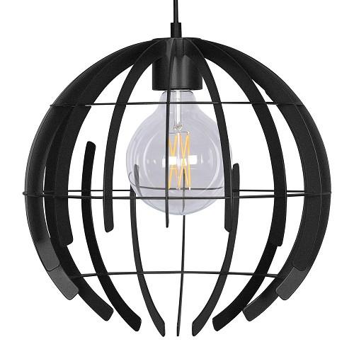 Moderne design hanglamp zwarte opengewerkte bol