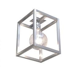 Plafondlamp opengewerkt RVS hal/gang