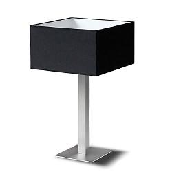 Tafellamp kap zwart vierkant