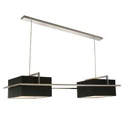 Hanglamp stoer lampenkap zwart rvs
