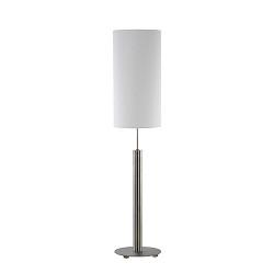 *Cilindertafellamp rvs wit