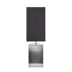 Moderne RVS tafellamp vierkant met zwart