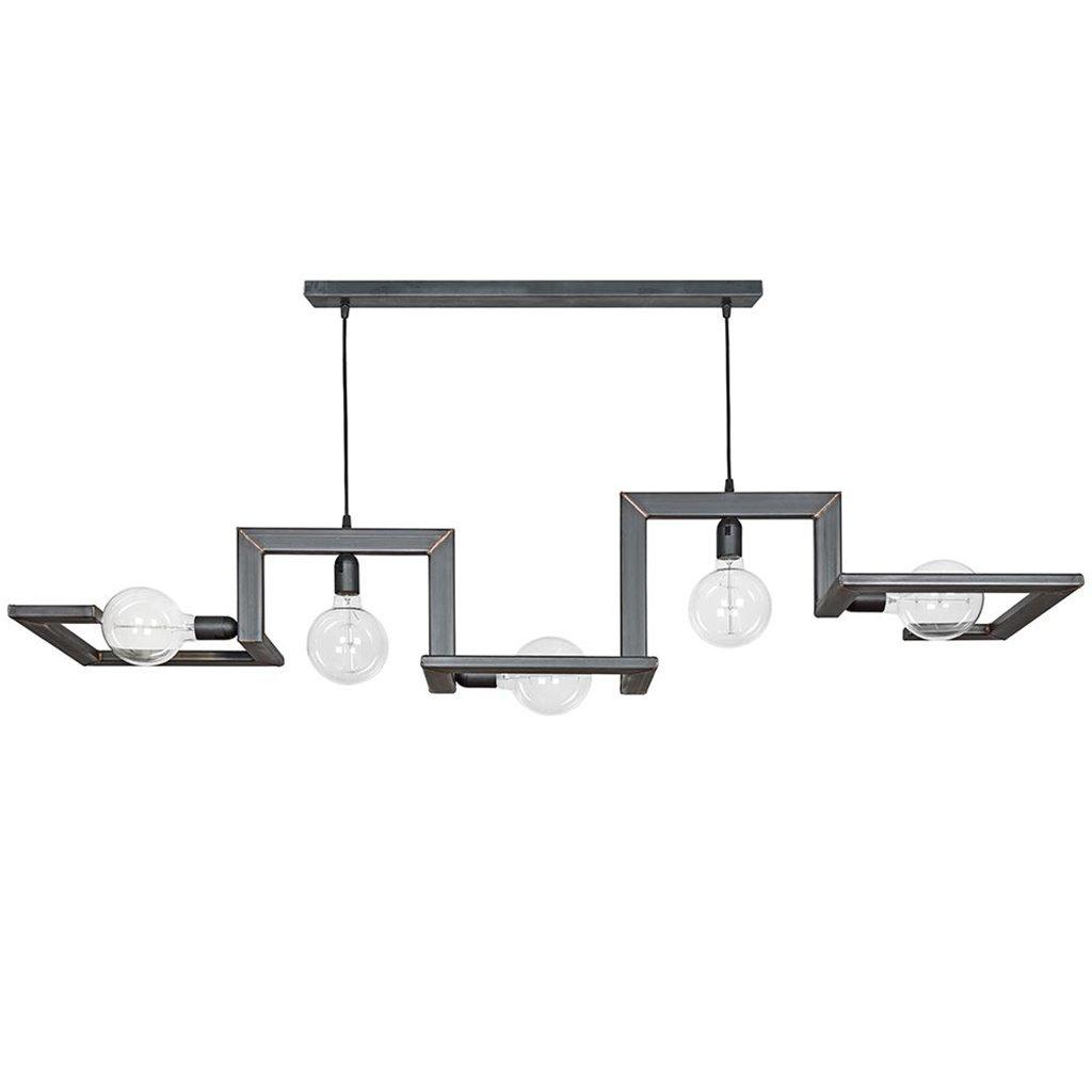 Hanglamp 150cm frame speels zwartstaal