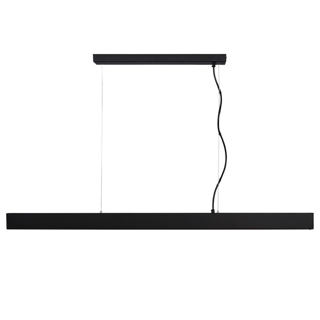 Design LED hanglamp zwarte balk dim to warm