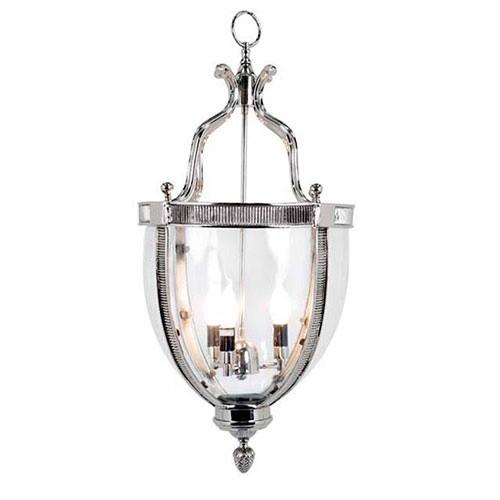 Hanglamp kelk zilver helder glas