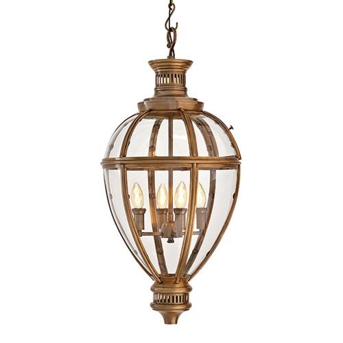 Romantische lantaarn Arcadia brons glas