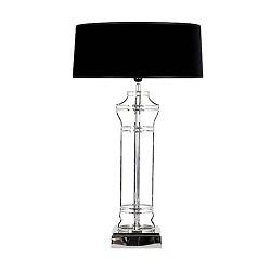 Chique tafellamp Newpoort zilver met kap
