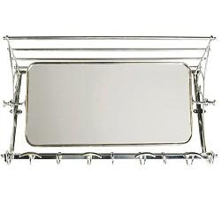 ** Wandkapstok zilver met spiegel