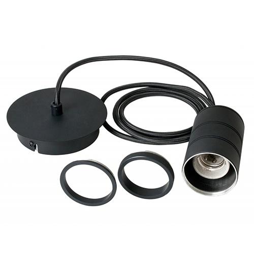 Calex Retro pendel 1.5m e27 zwart
