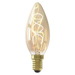 Calex 4W E14 kaars met spiraal Gold dimbaar
