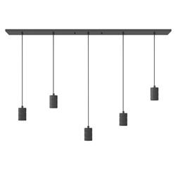 Calex multipendel plafondbalk 5-lichts E27 pendels zwart