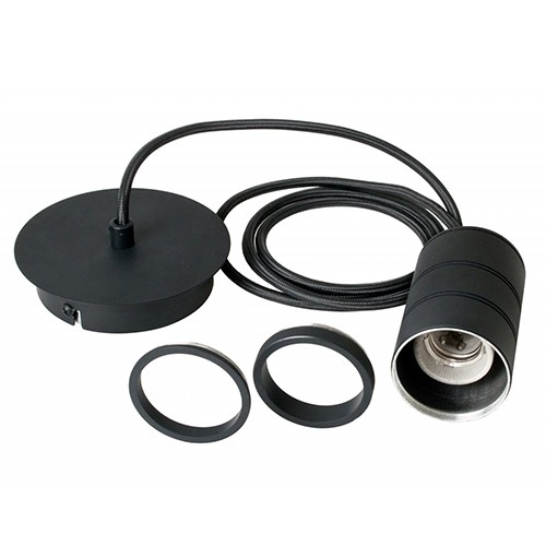 Calex Retro pendel 1.5mtr e27 zwart