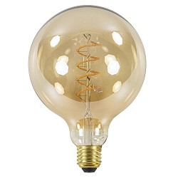 Led 4w e27 globe 125mm gold dimbaar