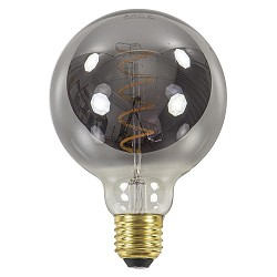 Led 6w e27 globe 95mm smoke dimbaar