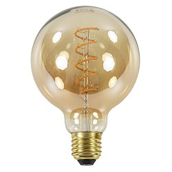 Led 6w e27 globe 95mm gold dimbaar