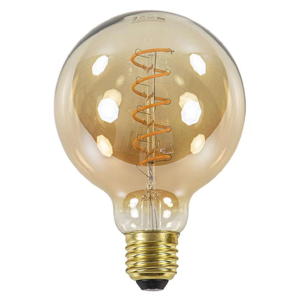 Dimbare Led lamp 4 watt gold E27 95mm
