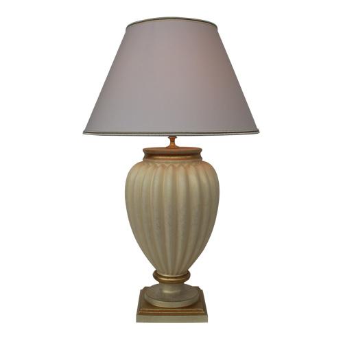 Klassieke vaaslamp tafellamp goud, creme