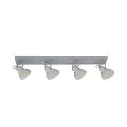 Grijze industriele plafondspot 4-lichts