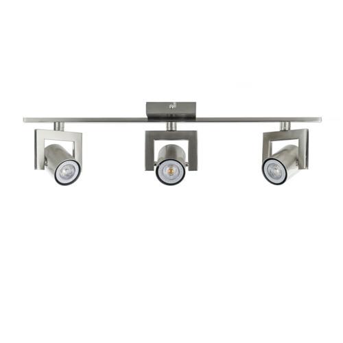 Moderne 3-lichts LED plafondspot staal
