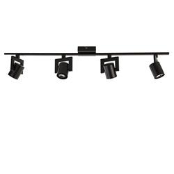 Plafondspot balk 4-lichts zwart incl.gu10