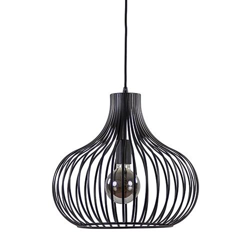 **Draadhanglamp medium zwart 38cm
